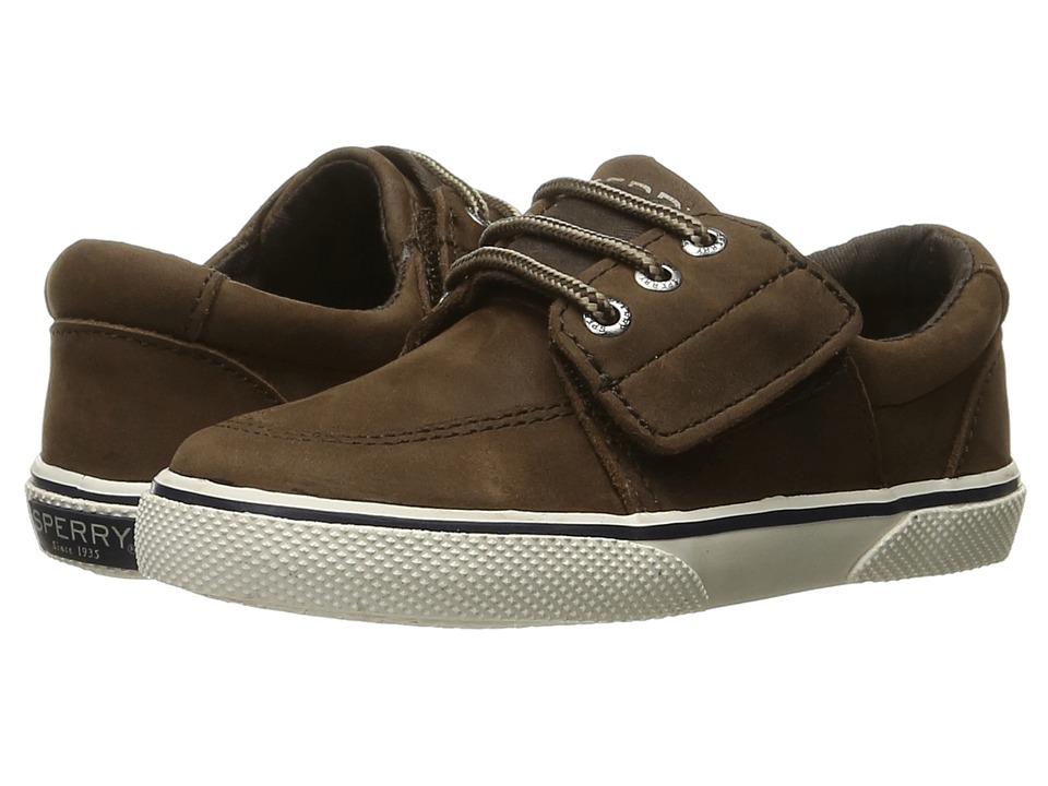 Sperry Top-Sider Kids - Ollie Jr. (Toddler/Little Kid) (Brown Leather) Boy's Shoes