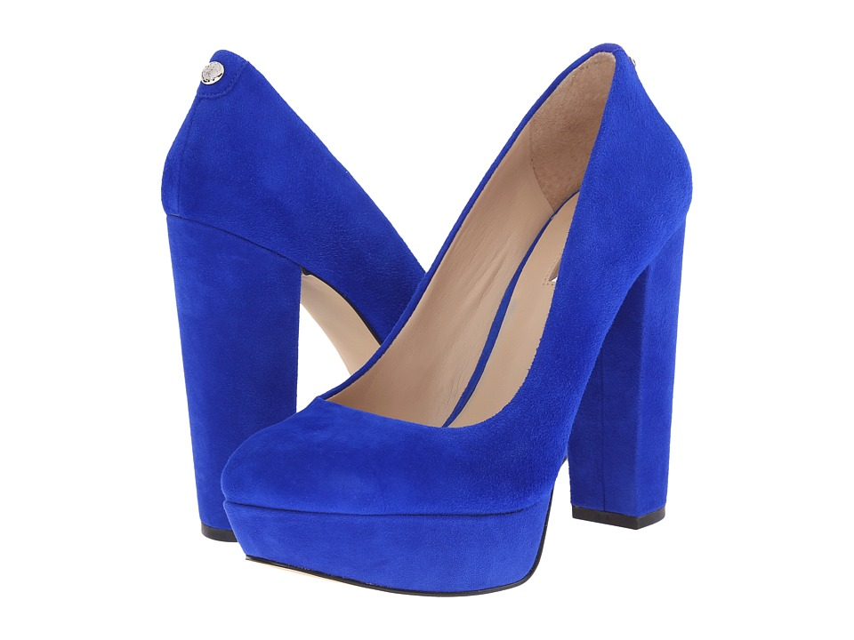 GUESS - Padey (Blue Suede) High Heels