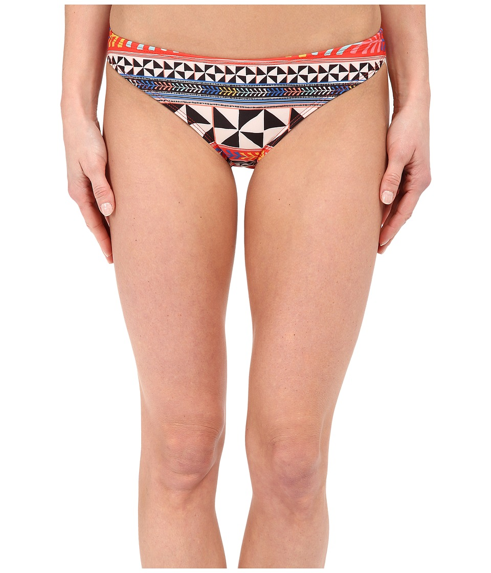 Mara Hoffman Classic Bottom Pinwheel Poppy Swimwear