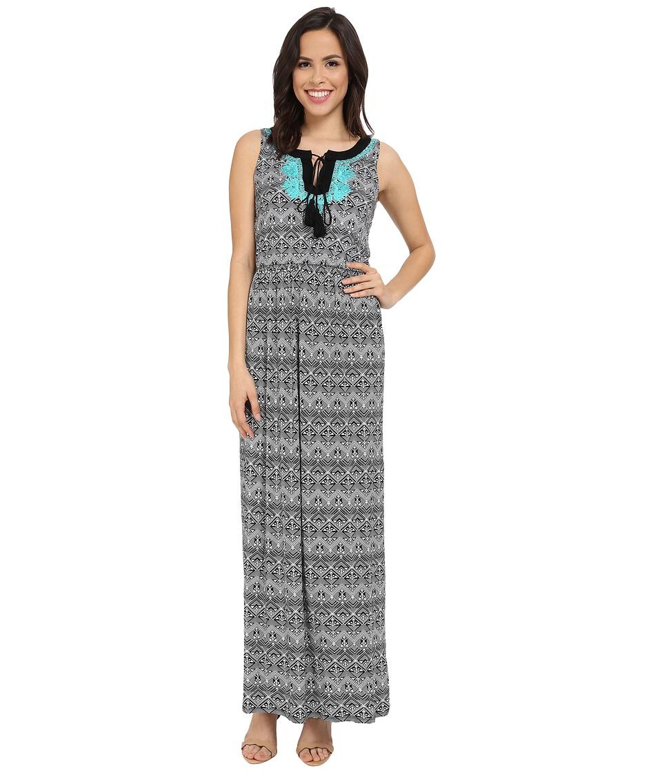 Christin Michaels - Marano Dress (Black/Ivory) Women's Dress