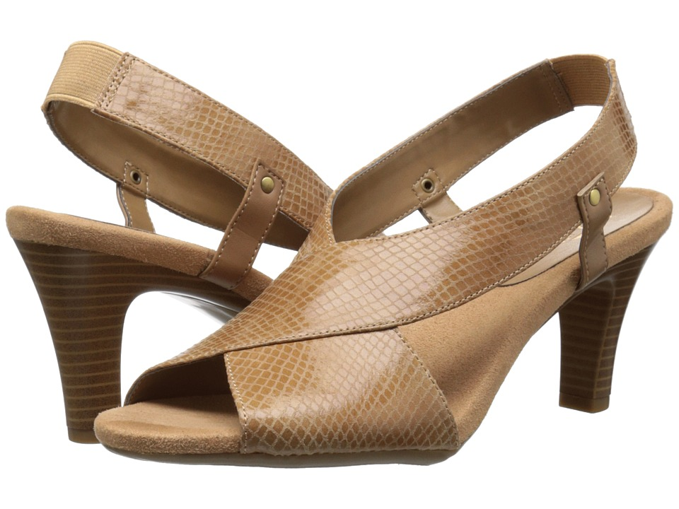 Aerosoles - Rotmail (Dark Tan Snake) Women's Sling Back Shoes