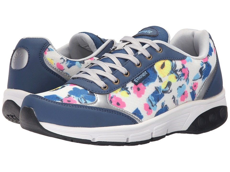 THERAFIT - Ginger (Navy Flowers) Women's Lace up casual Shoes