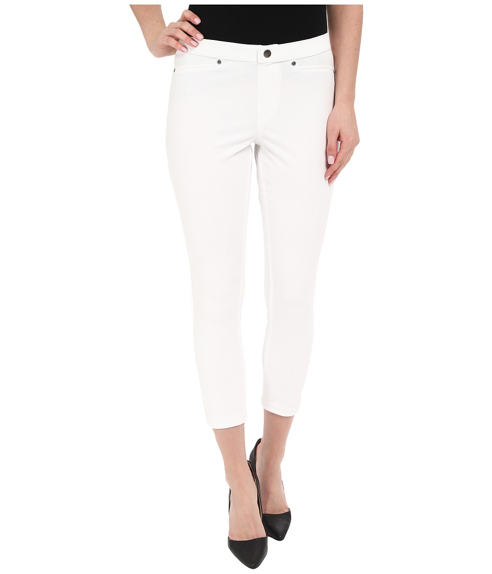 HUE - Super Smooth Denim Capris (White) Women's Jeans