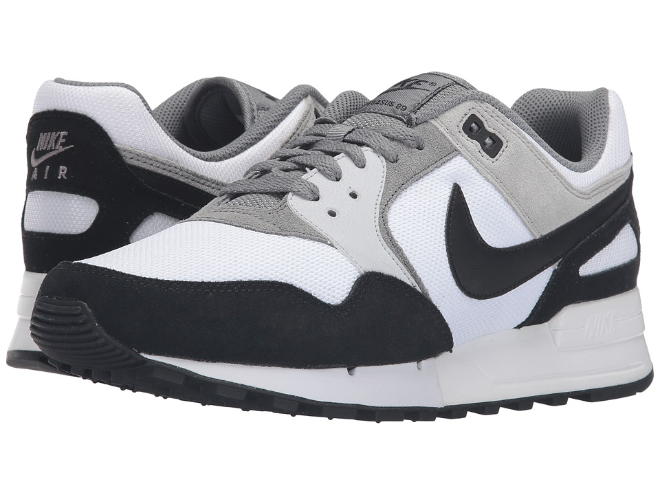 Nike - Air Pegasus '89 (White/Black/Wolf Grey) Men's Lace up casual Shoes
