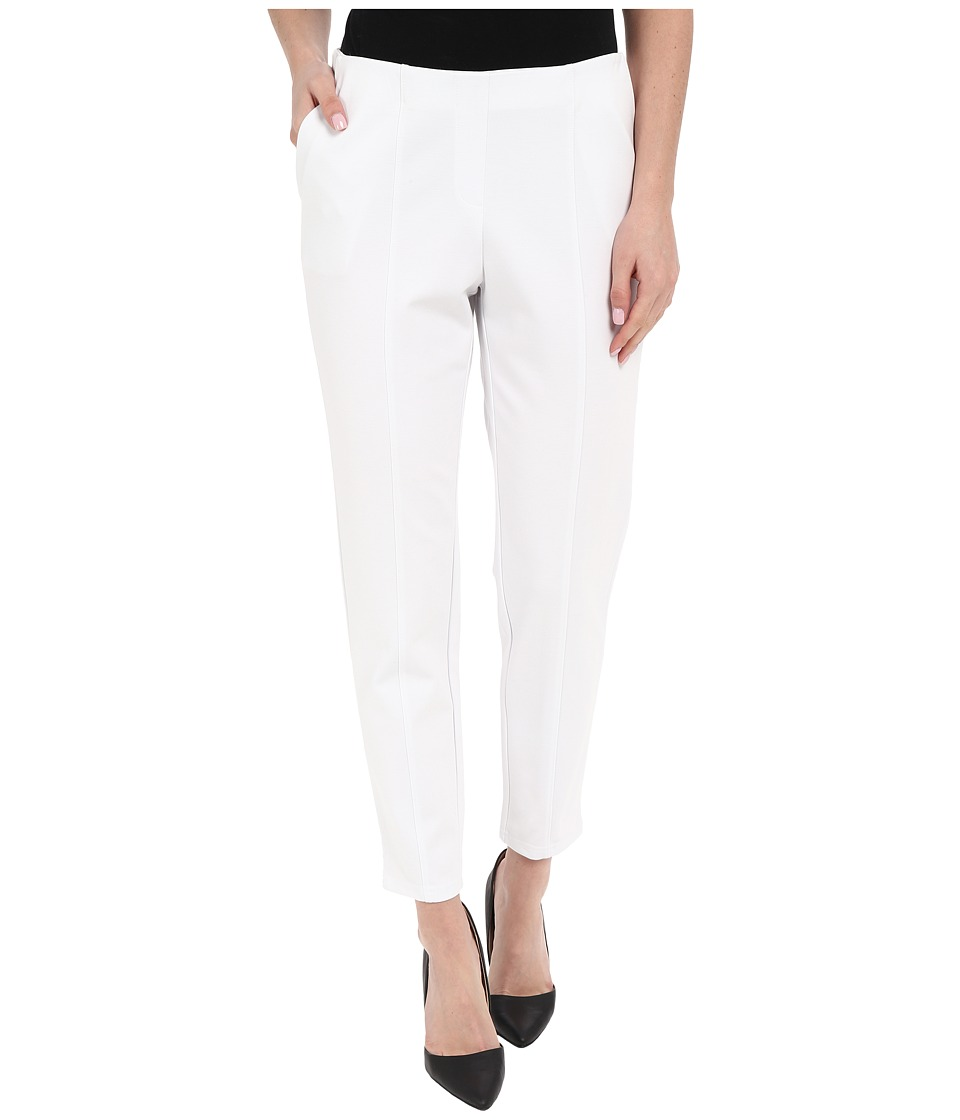 HUE - Travelista Seamed Luxe Ponte Skimmer (White) Women's Casual Pants