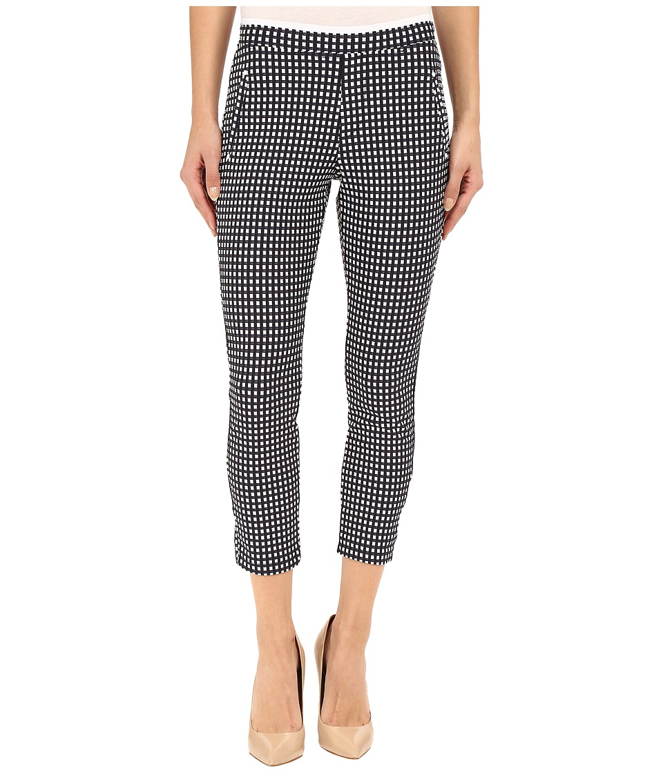 HUE - Checkered Knit Capris (Navy) Women's Capri