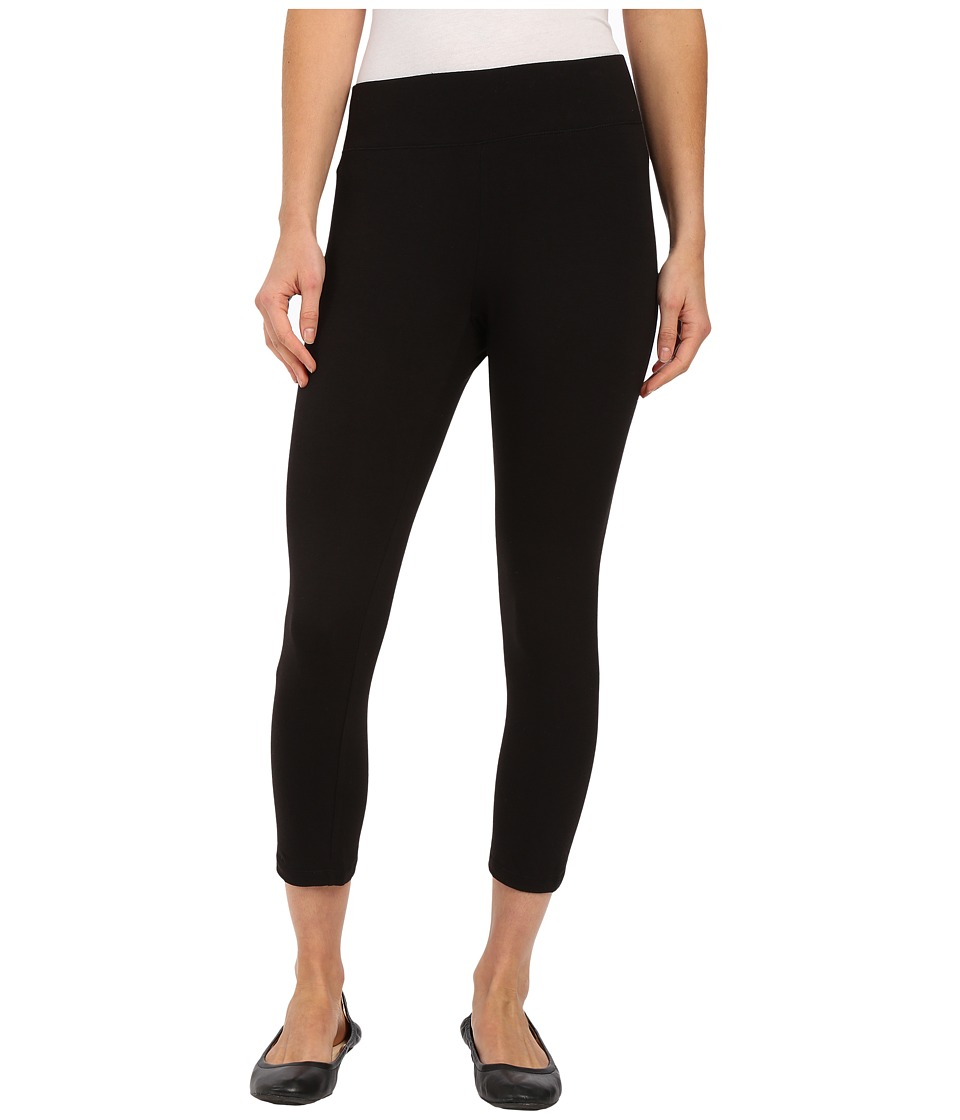 HUE - Ultra Capris w/ Wide Waistband (Black) Women's Capri