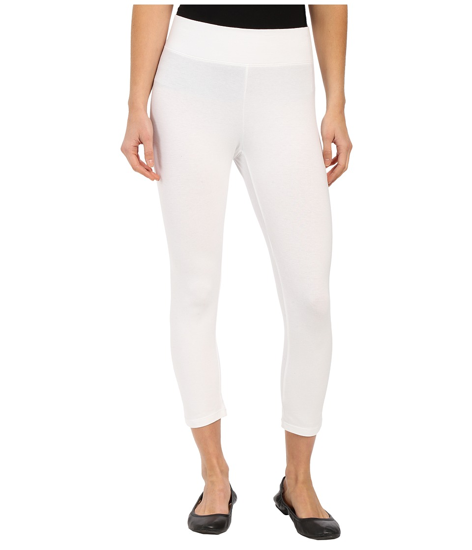 HUE - Ultra Capris w/ Wide Waistband (White) Women's Capri