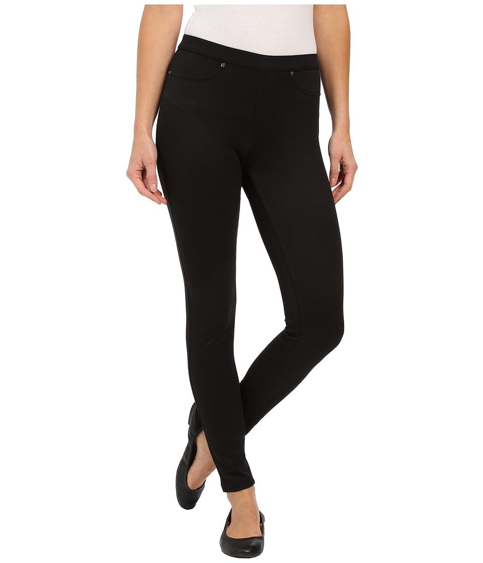 HUE - Spring Twill Leggings (Black) Women's Casual Pants