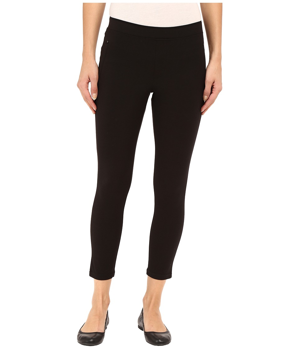 HUE - Polished Twill Capris (Black) Women's Capri