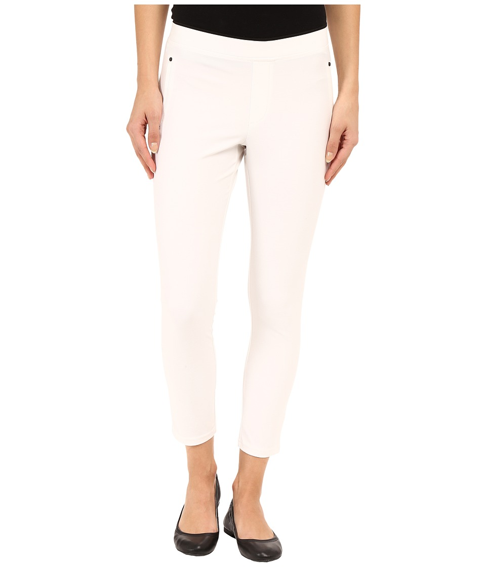 HUE - Polished Twill Capris (White) Women's Capri