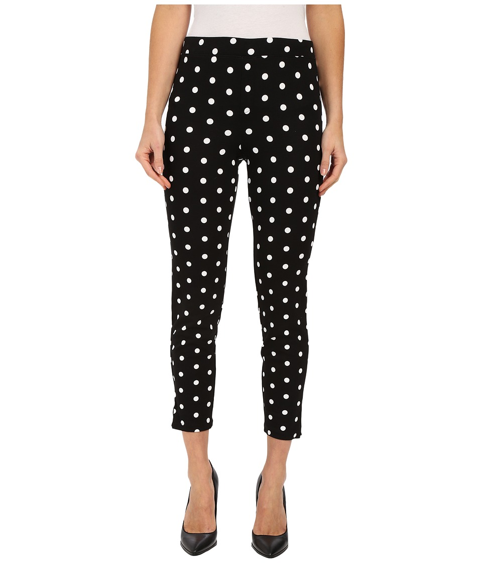 HUE - Dotted Loafer Ponte Skimmer (Black) Women's Casual Pants