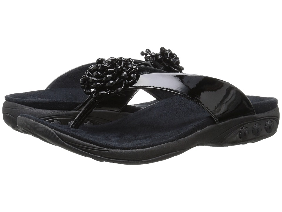 THERAFIT - Jasmine (Black) Women's Sandals