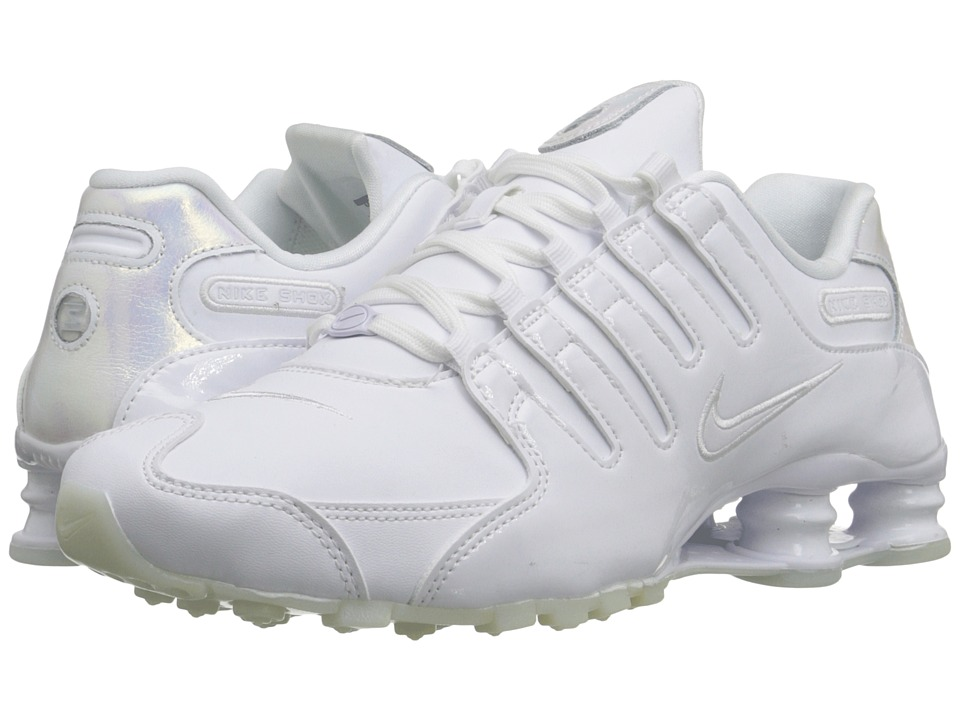 Nike - Shox NZ (White/White/Blue Tint/White) Women's Shoes