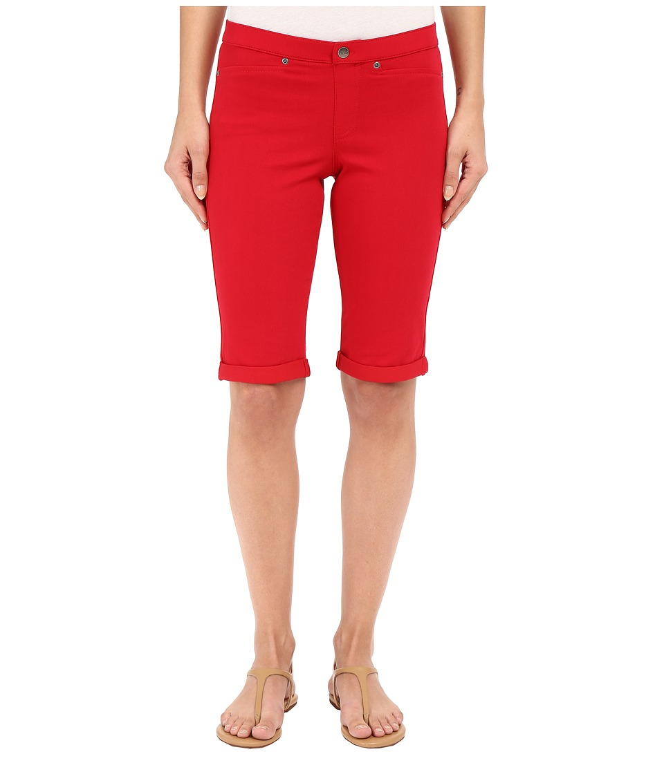 HUE - Super Smooth Denim Shorts (Tango Red) Women's Shorts