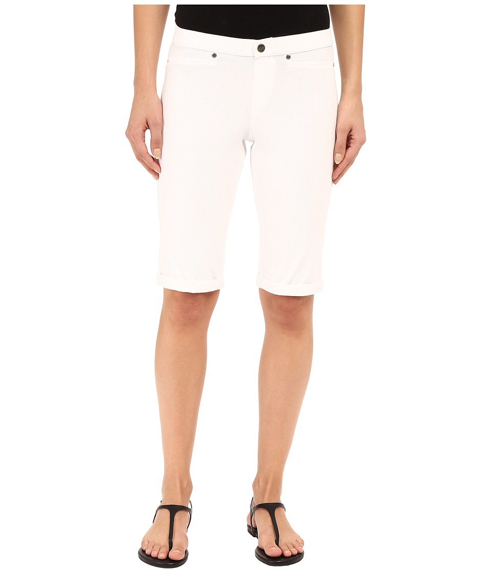 HUE - Super Smooth Denim Shorts (White) Women's Shorts