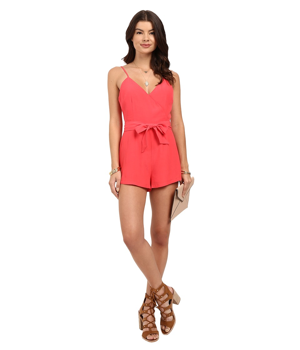 BB Dakota - Darcey Crepe Romper with Tie Belt (Glow) Women's Jumpsuit & Rompers One Piece