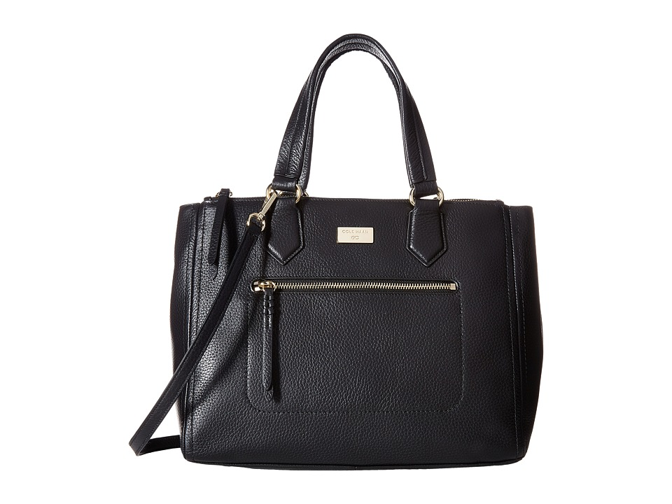 Cole Haan - Ellie Large Triple Entry Satchel (Black) Satchel Handbags