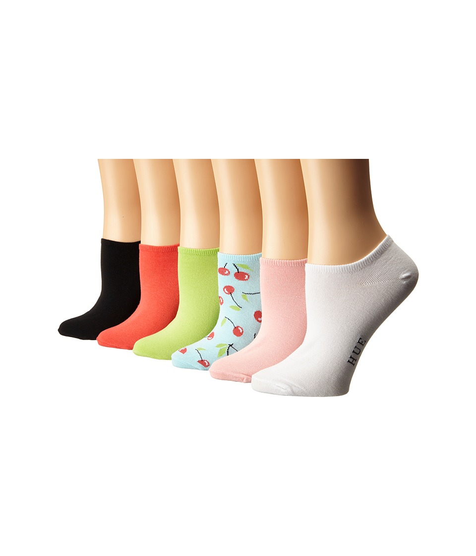 HUE - Cotton Liner 6 Pair Pack (Sea Breeze Pack) Women's No Show Socks Shoes