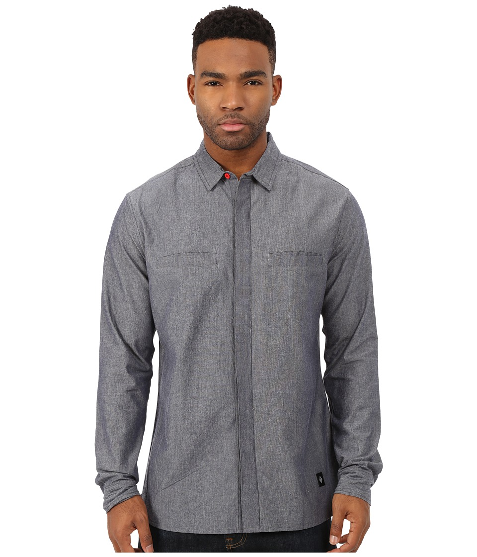 Akomplice - Patrick Long Sleeve Button Up (Grey) Men's Long Sleeve Button Up