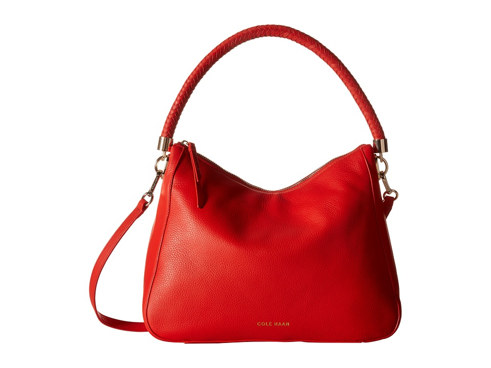 Cole Haan - Benson Mini Hobo Crossbody (Citrus Red) Cross Body Handbags
