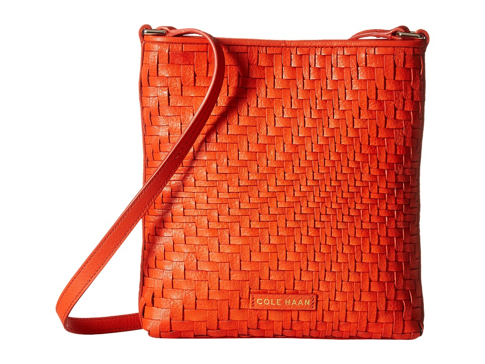 Cole Haan - Lena Crossbody (Citrus Red) Cross Body Handbags