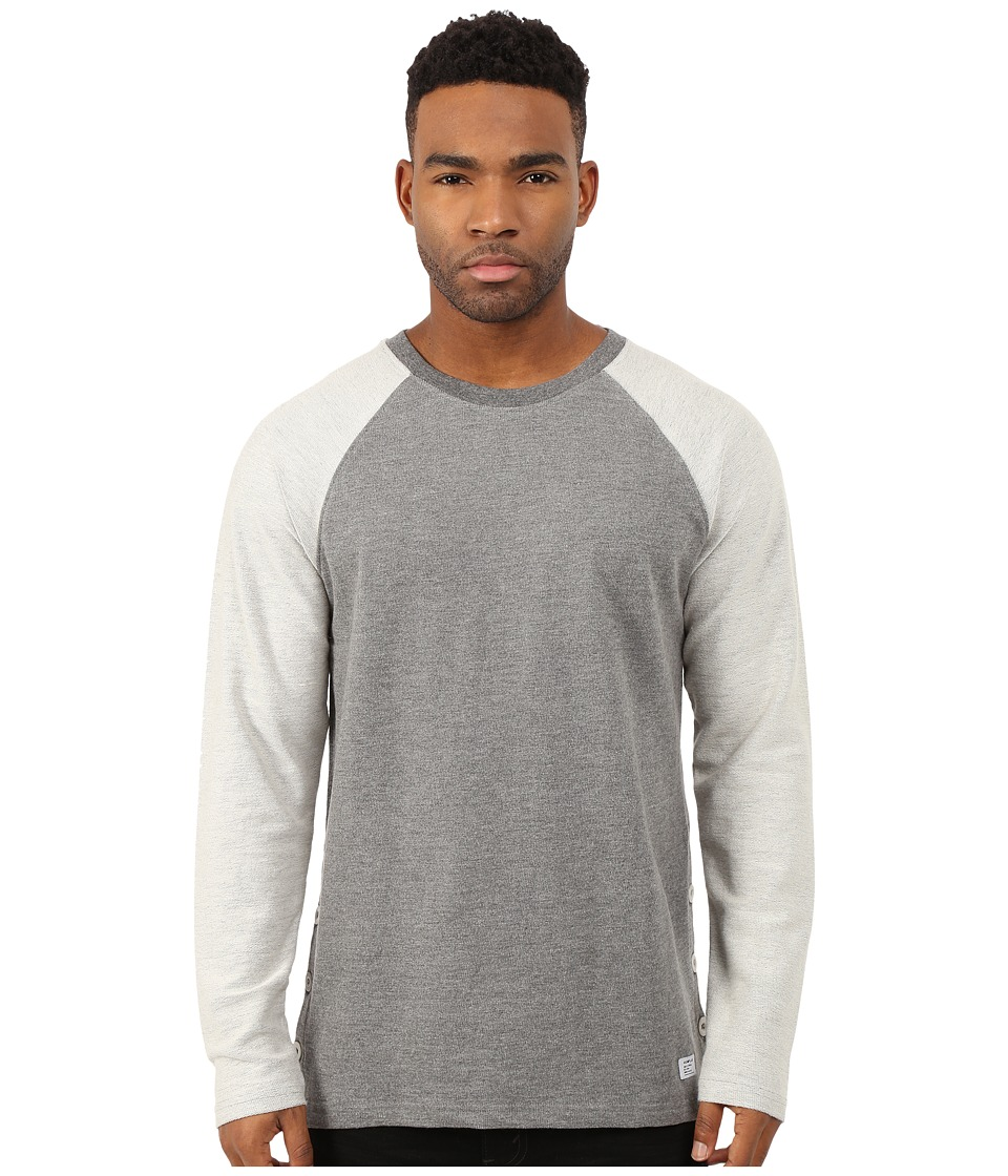 Akomplice - Button Rag Crew (Grey) Men's Sweatshirt