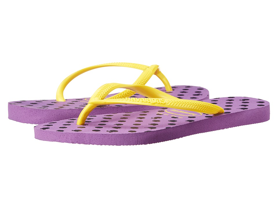 Havaianas - Slim Fresh Flip-Flops (Purple) Women's Sandals