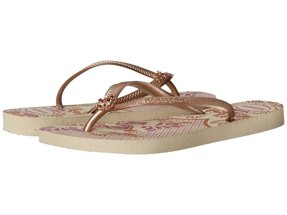 Havaianas - Slim Thematic Flip Flops (Beige 1) Women's Sandals