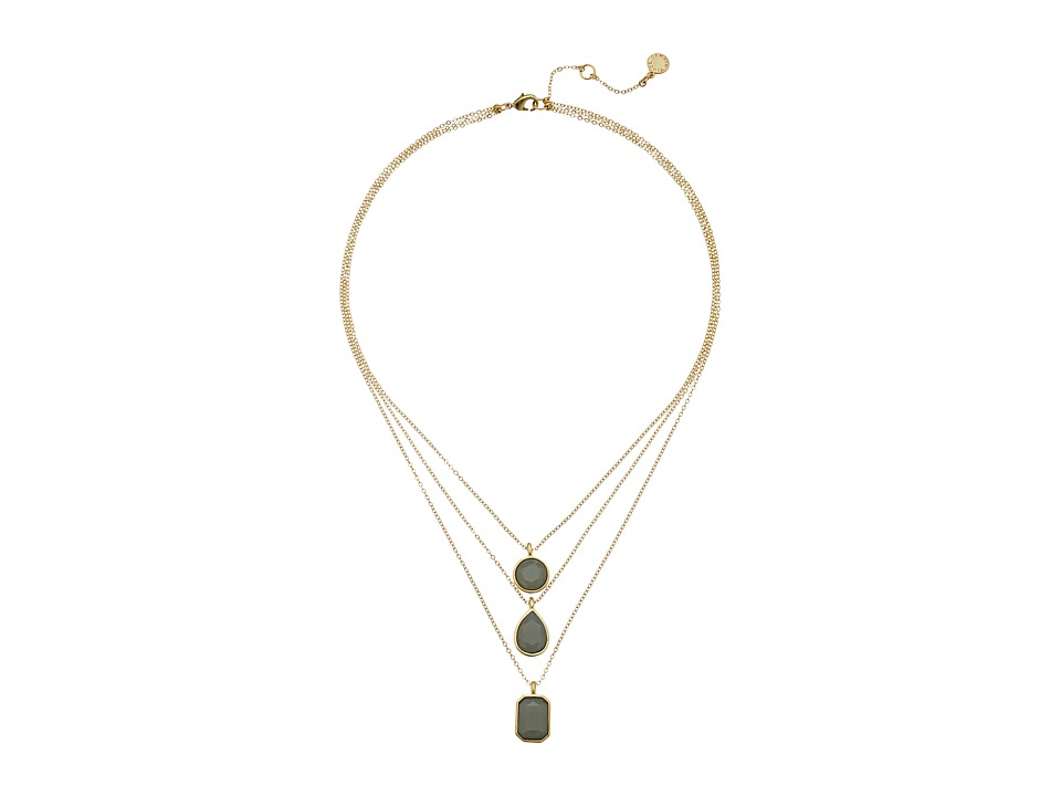 Vince Camuto - Triple Layer Pendant Necklace (Worn Gold/Milky Grey) Necklace