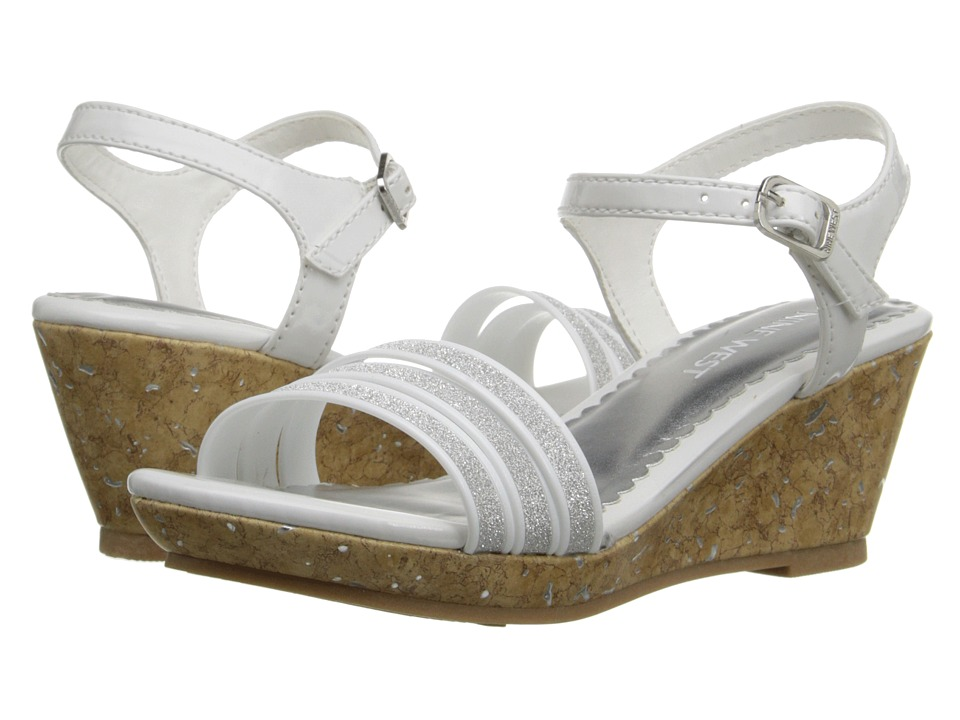 Nine West Kids - Emily (Little Kid/Big Kid) (White/Silver) Girl
