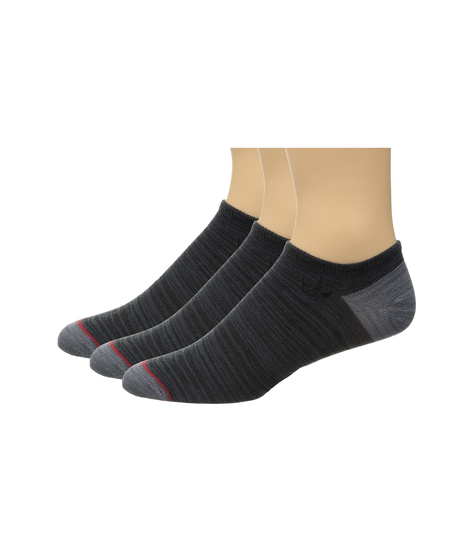 adidas - Originals 3-Pack No Show Sock (Black/Bold Onix Space Dye/Grey/Onix Space Dye/Scarlet) Men's No Show Socks Shoes