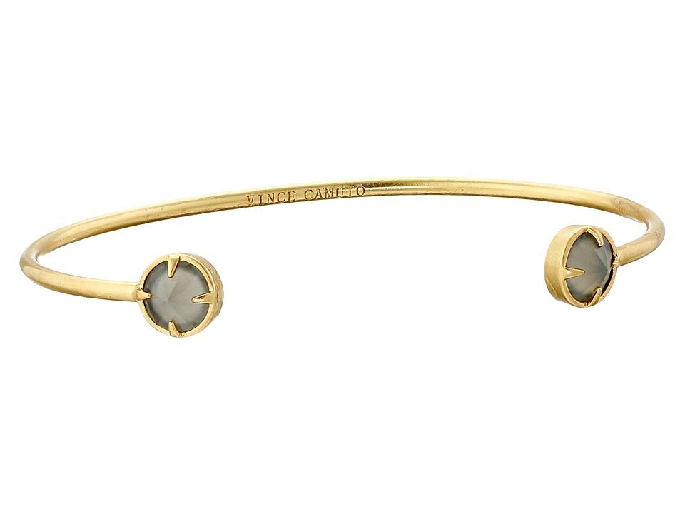 Vince Camuto - Rivoli Dainty Cuff Bracelet (Worn Gold/Milky Grey) Bracelet