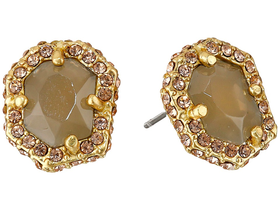 Vince Camuto - Femme Rock Stud Earrings (Worn Gold/Milky Grey/Light Peach Pave) Earring
