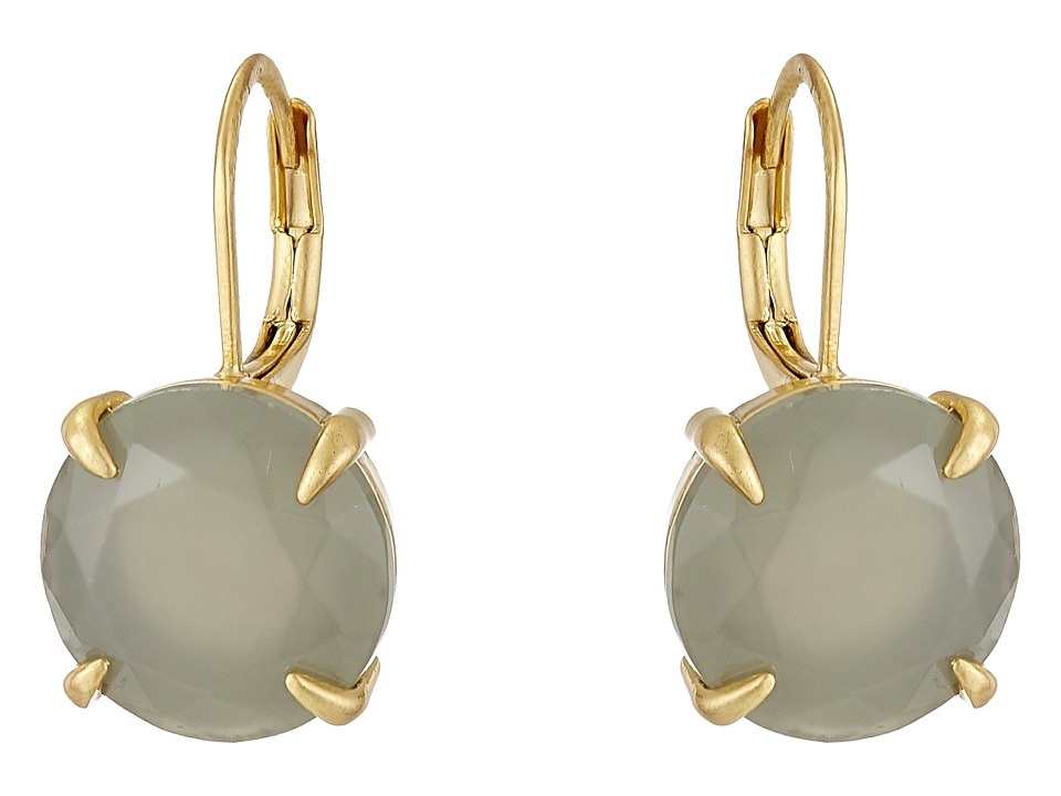 Vince Camuto - Round Leverback Earrings (Worn Gold/Milky Grey) Earring
