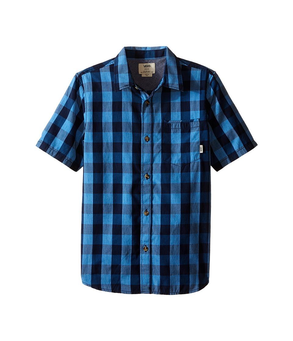 Vans Kids - Milton Short Sleeve Shirt (Big Kids) (Dress Blues/French Blue) Boy's Short Sleeve Button Up