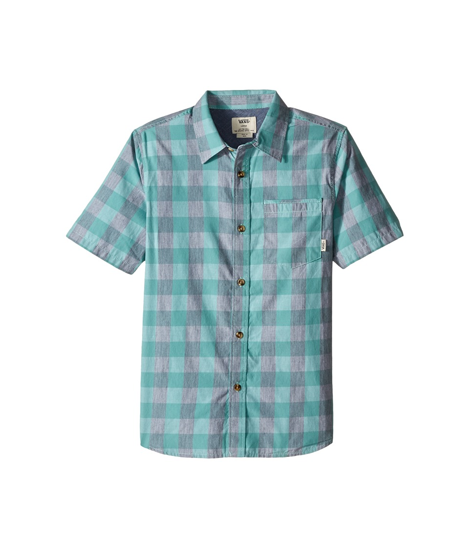 Vans Kids - Milton Short Sleeve Shirt (Big Kids) (Canton/Heather Grey) Boy's Short Sleeve Button Up