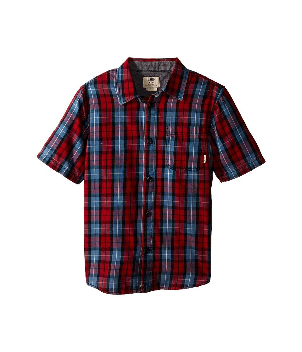 Vans Kids - Sherborn (Big Kids) (Chili Pepper) Boy's Short Sleeve Button Up