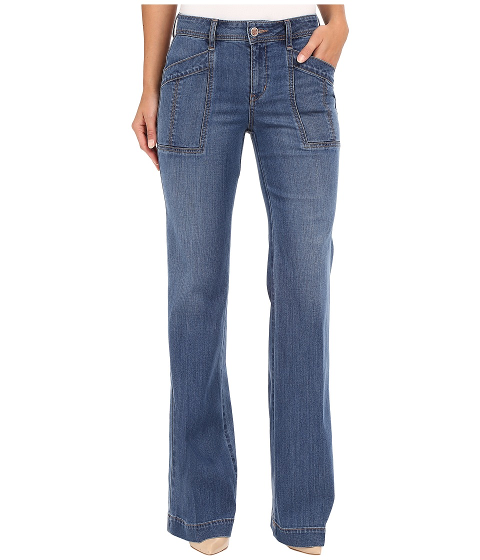 Level 99 - Eve Mid-Rise Wide Leg in True Blue (True Blue) Women's Jeans