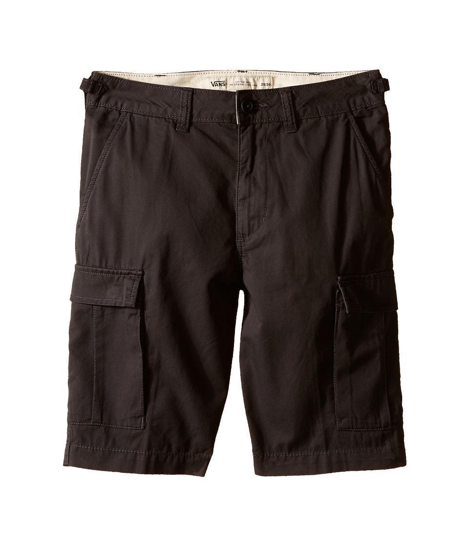 Vans Kids - Tremain (Little Kids/Big Kids) (New Charcoal) Boy's Shorts