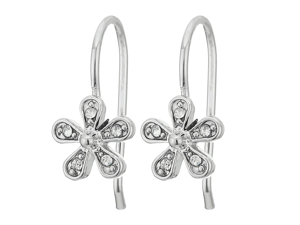 LAUREN Ralph Lauren - Small Flower Drop Earrings (Pearl/Crystal) Earring