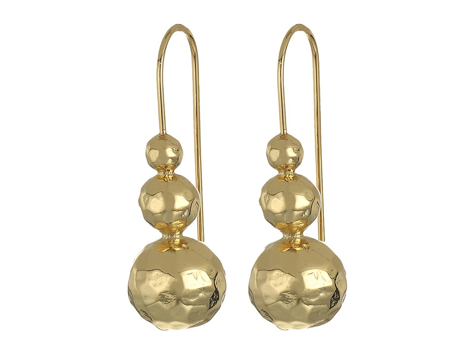 LAUREN Ralph Lauren - Bali Organic Bead Linear Earrings (Gold) Earring
