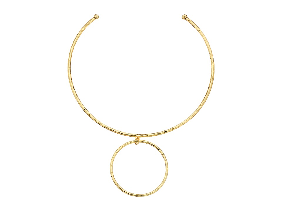 LAUREN Ralph Lauren - Bali Organic Metal Stud Collar Necklace (Gold) Necklace