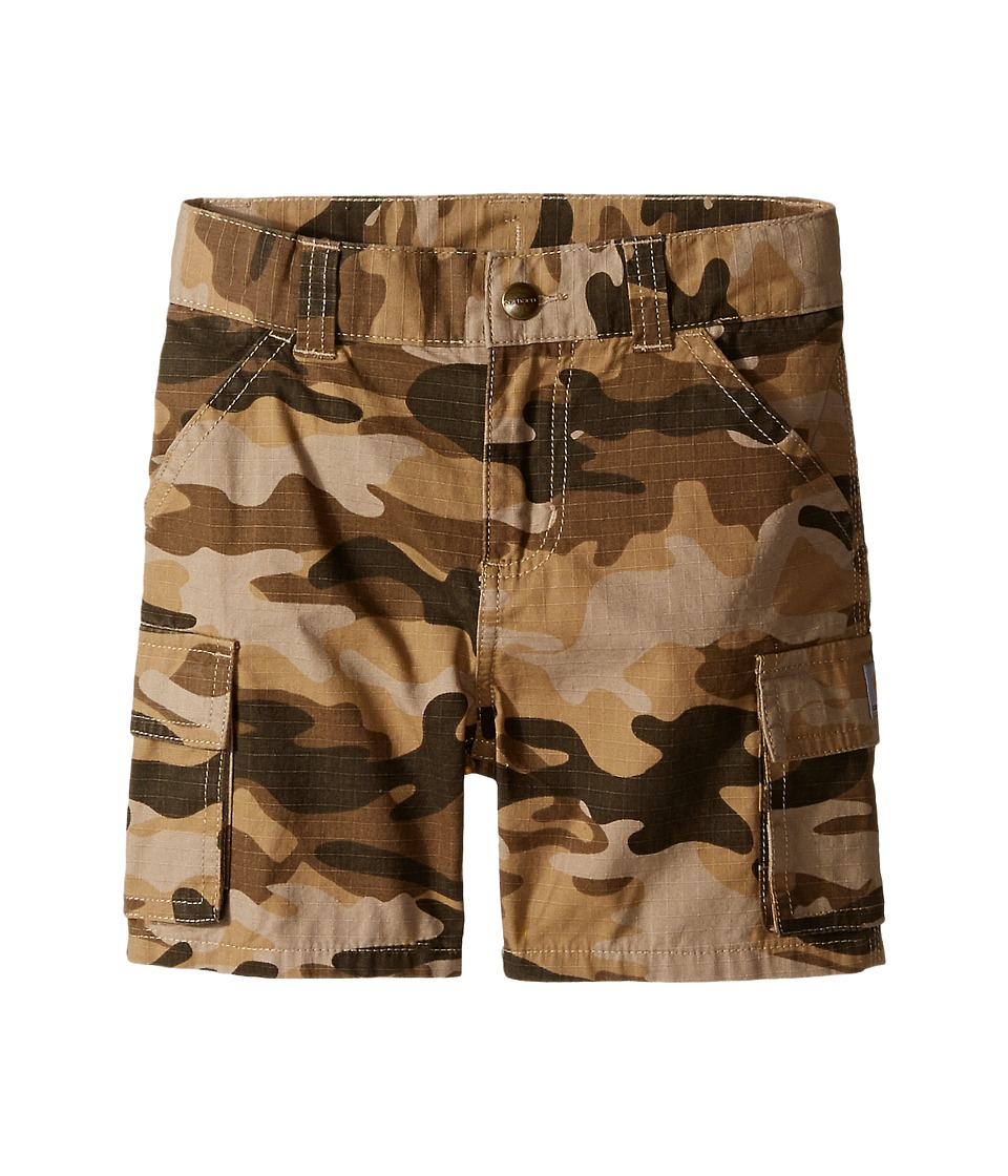 Carhartt Kids - Camo Cargo Shorts (Toddler) (Tan Camo) Boy's Shorts