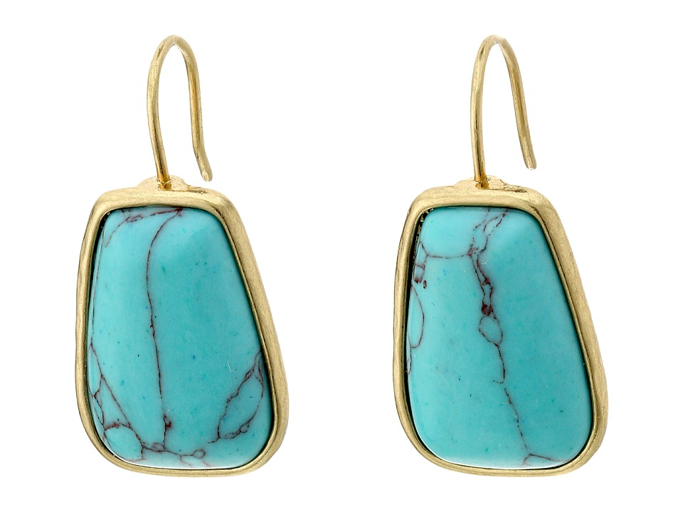 LAUREN Ralph Lauren - Capri Organic Stone Drop Earrings (Turquoise/Gold) Earring