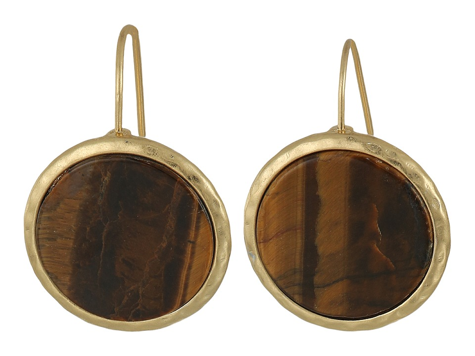 LAUREN Ralph Lauren - Summer Chic Stone Disk Drop Earrings (Mother-of-Pearl/Gold) Earring