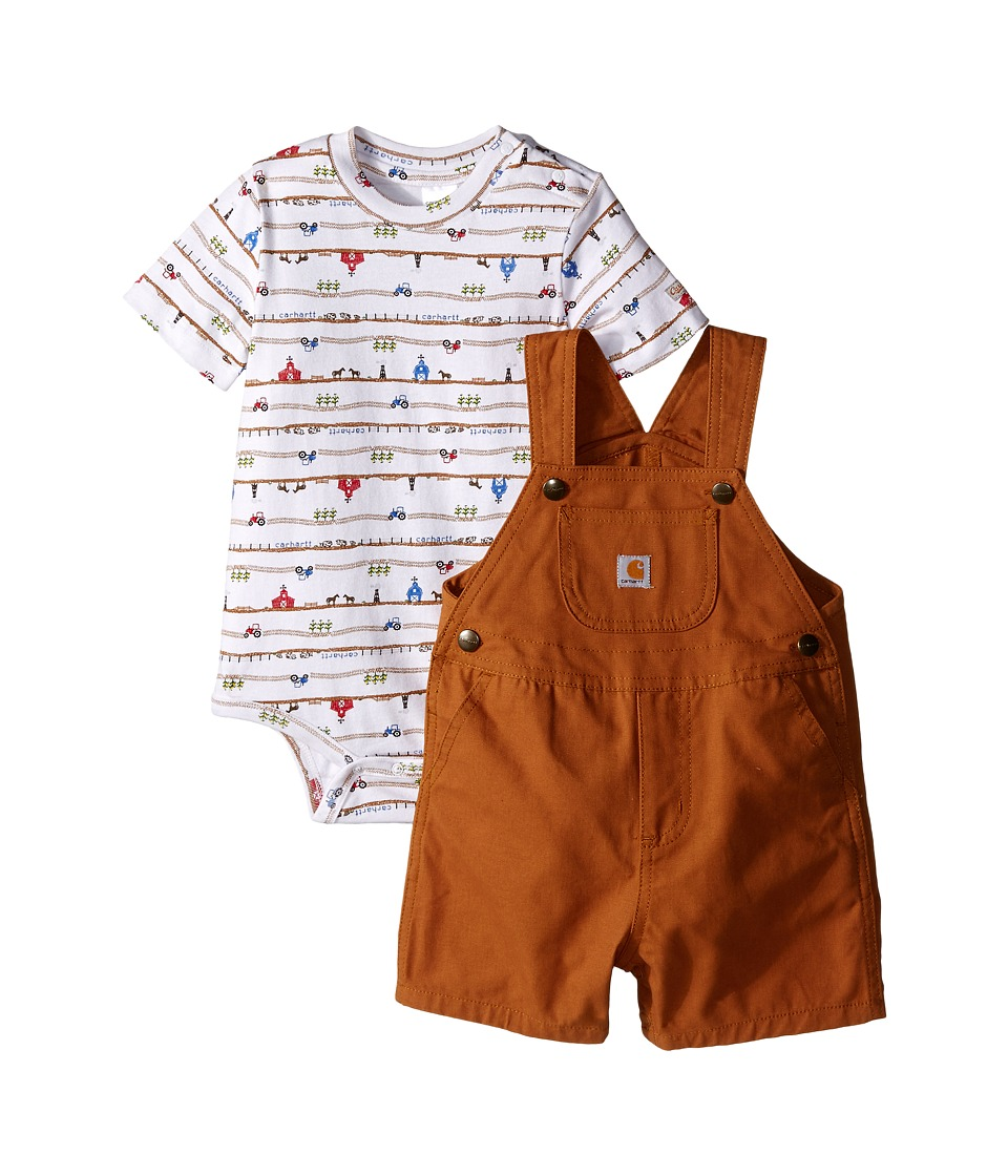 Carhartt Kids - Shortall Set (Infant) (Carhartt Brown) Boy's Jumpsuit & Rompers One Piece