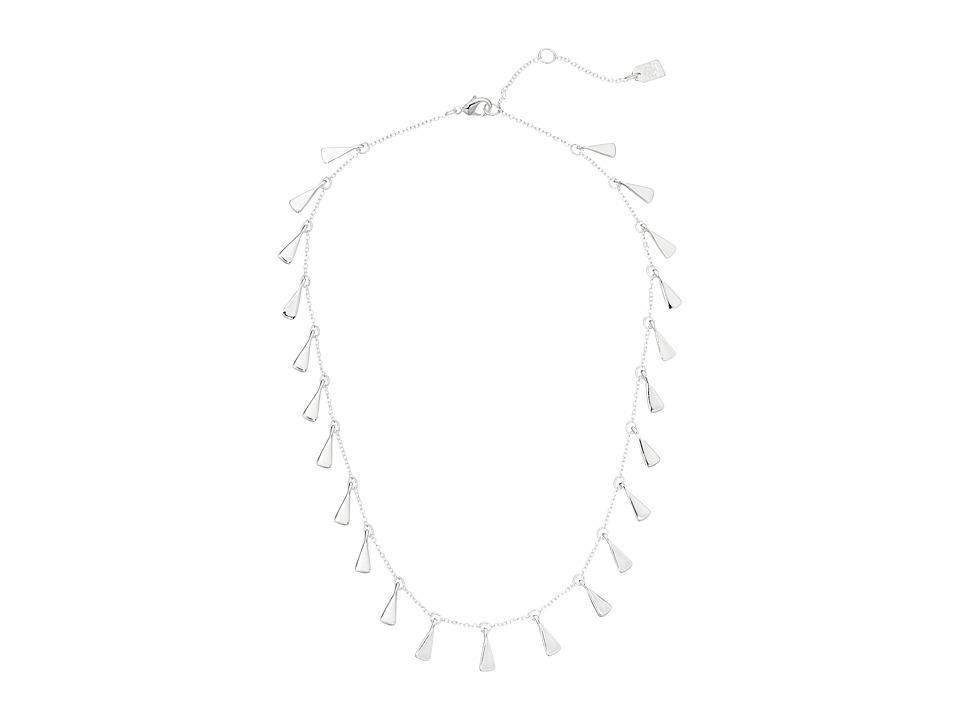 LAUREN Ralph Lauren - Belle Isle 16 Sculptured Metal Fringe Necklace (Silver) Necklace