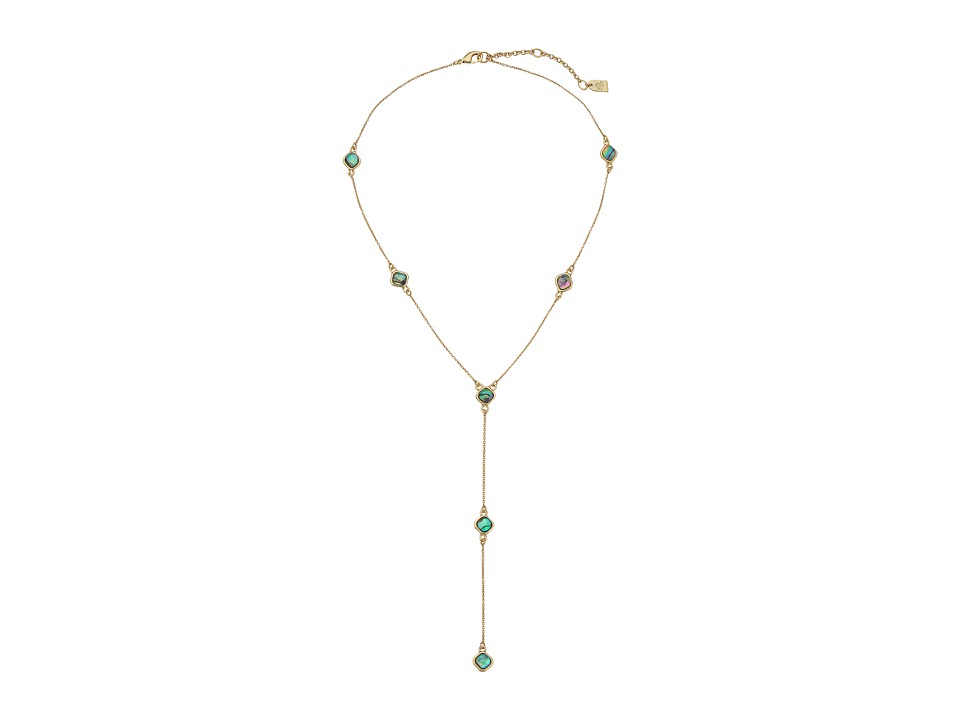 LAUREN Ralph Lauren - Coastal Blues 16 Stone Y-Neck Necklace (Gold/Multi) Necklace