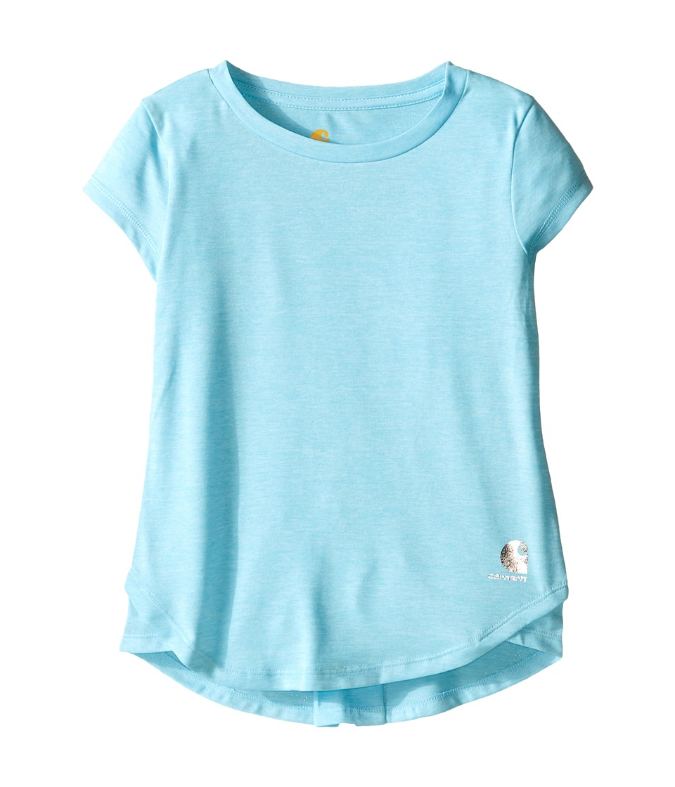 Carhartt Kids - Force Tee (Little Kids) (Gulf Stream Heather) Girl's Short Sleeve Pullover